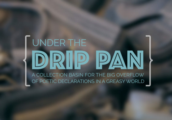 Under The Drip Pan [book title design]